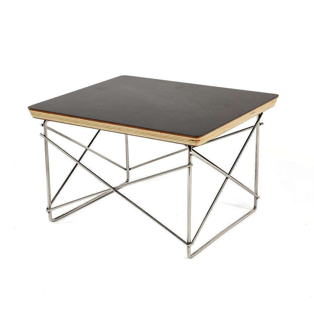 Mid-Century Modern Reproduction Wire Base Low Table - Black Top Inspired by Charles and Ray E.
