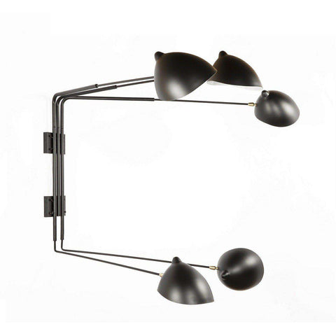 Mid-Century Modern Reproduction Five Arm MSC-R5 Rotating Sconce - Short Inspired by Serge Mouille