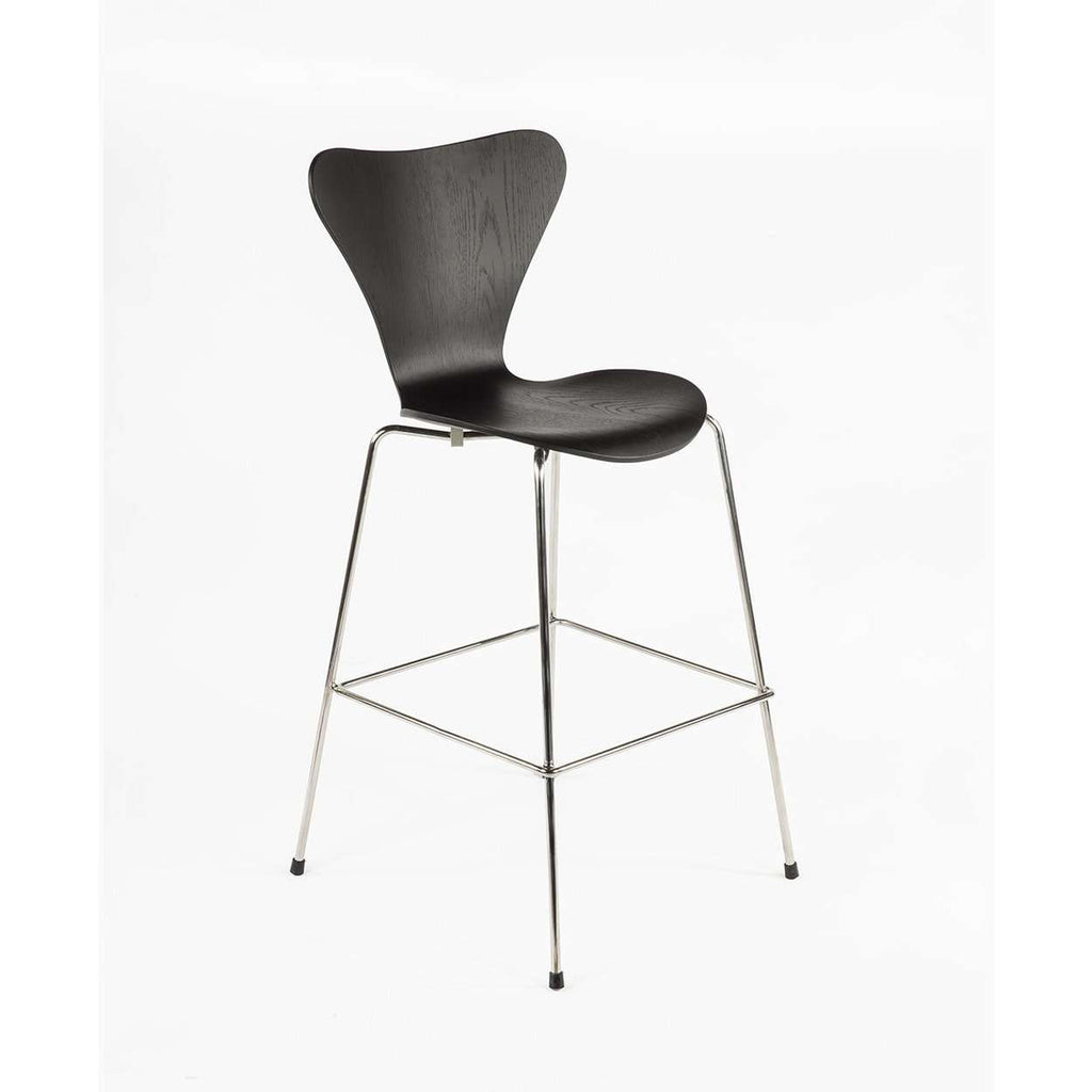 Mid-Century Modern Reproduction Series 7 Bar Stool - Black Inspired by Arne Jacobsen