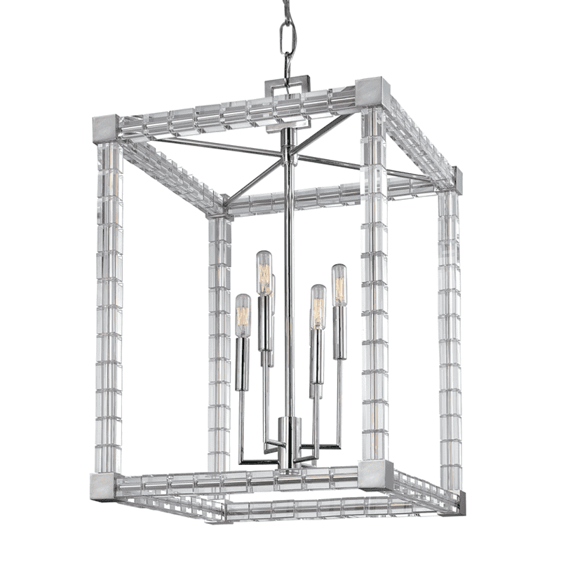 Alpine 6 Light Chandelier Polished Nickel