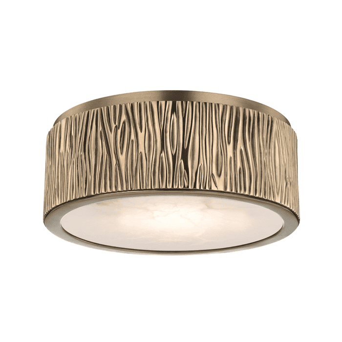 Crispin Small Led Flush Mount Aged Brass