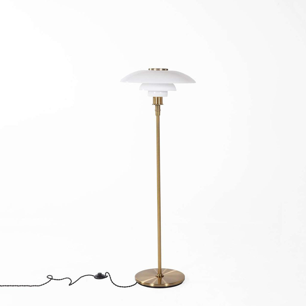 Mid-Century Modern Reproduction Henningsen 4.5/3.5 Floor Lamp - Brass