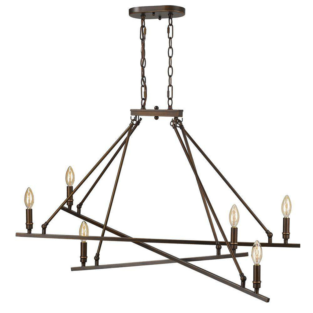 Garvin Linear Pendant in Rubbed Bronze