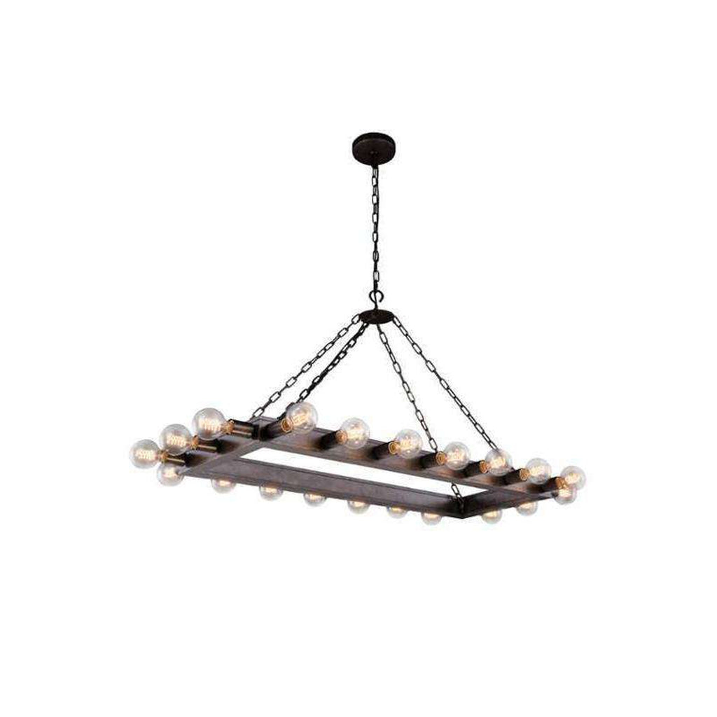 ELL-1501G50AI - Parent  - elegant lighting - 20 Light Winston Rectangular Chandelier