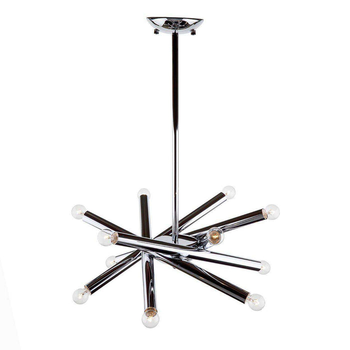Modern Rowan Chandelier - Chrome Modern Suspension Lamp