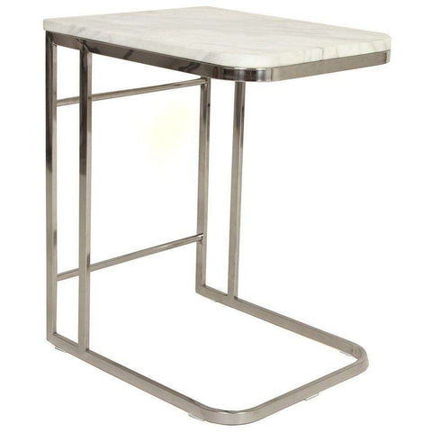 Contemporary Ryker Marble Side Table