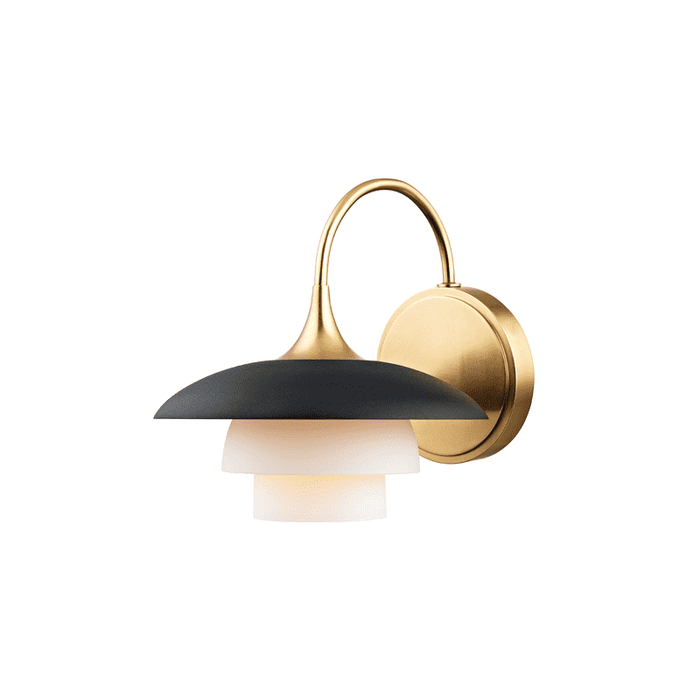 Barron 1 Light Wall Sconce Aged Brass