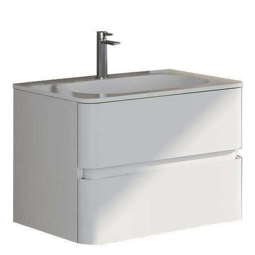 Modern Egan true solid surface sink and cabinet