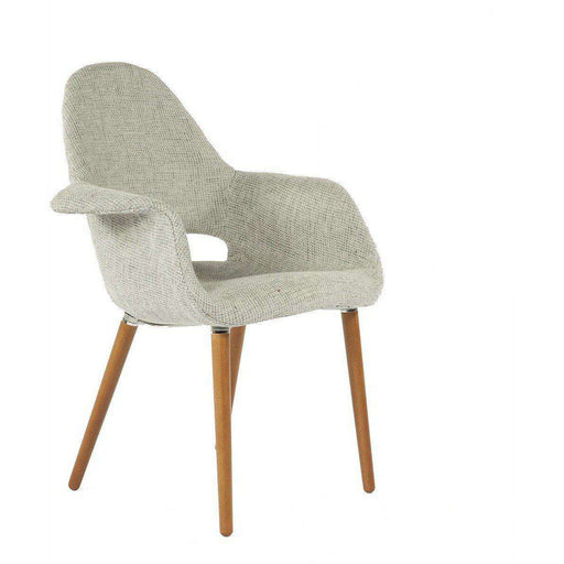Mid-Century Modern Reproduction Organic Chair - Grey Twill Inspired by Charles and Ray E. and Eero Saarinen