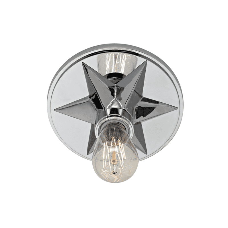 Bethesda 1 Light Flush Mount Polished Chrome