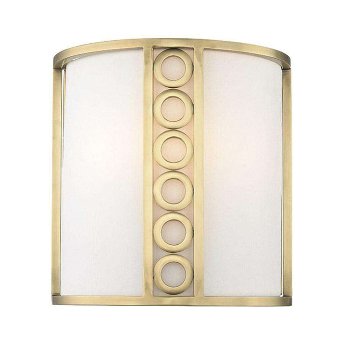 Infinity 2 Light Wall Sconce Aged Brass