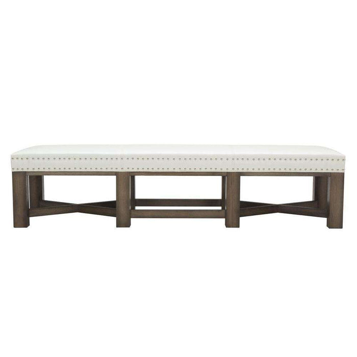 BRIXTON BENCH - IVORY LEATHER