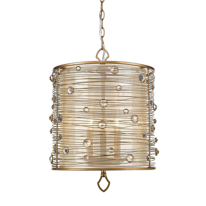 Joia PG 3 Light Pendant Peruvian Gold