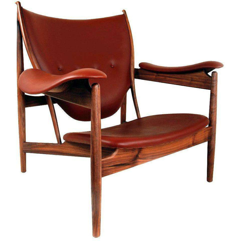 Chieftains Lounge Chair- Brown Leather