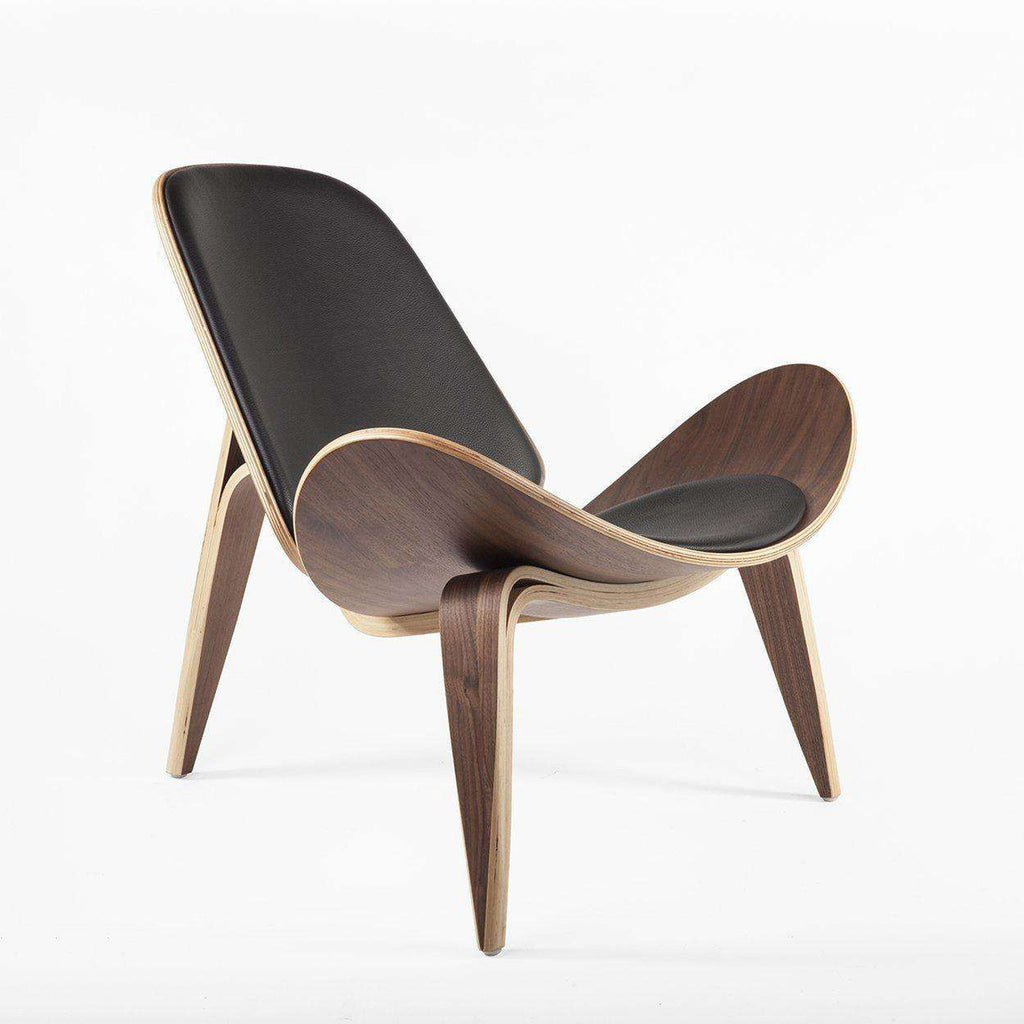 Mid Century Modern Reproduction CH07 Shell Chair   Black Inspired By Hans  Wegner