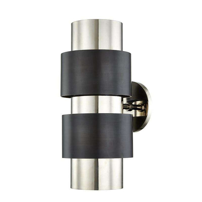 Cyrus 2 Light Wall Sconce Polished Nickel/Old Bronze Combo