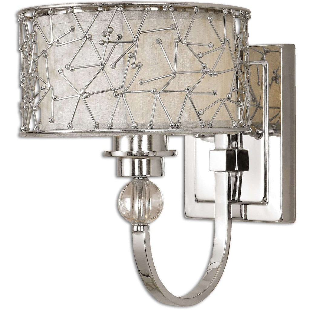 Uttermost Brandon 1 Light Nickel Plated Wall Sconce
