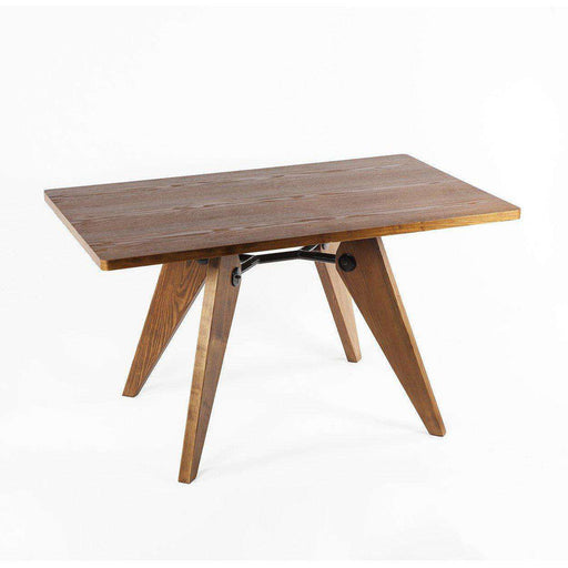 Mid-Century Modern Reproduction Em Dining Table - Rectangular Wood Table Inspired by Jean Prouve