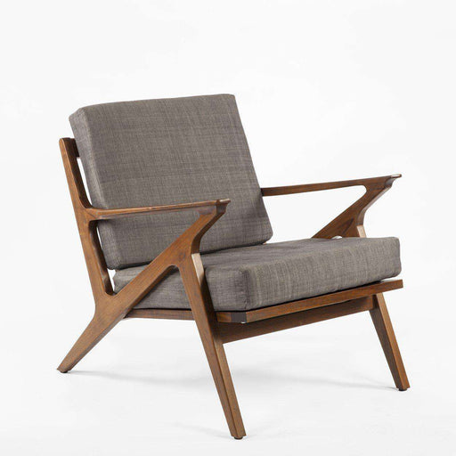 Great Mid Century Modern Reproduction Mid Century Z Lounge Chair   Grey Inspired  By Poul Jensen FL1310GREY3