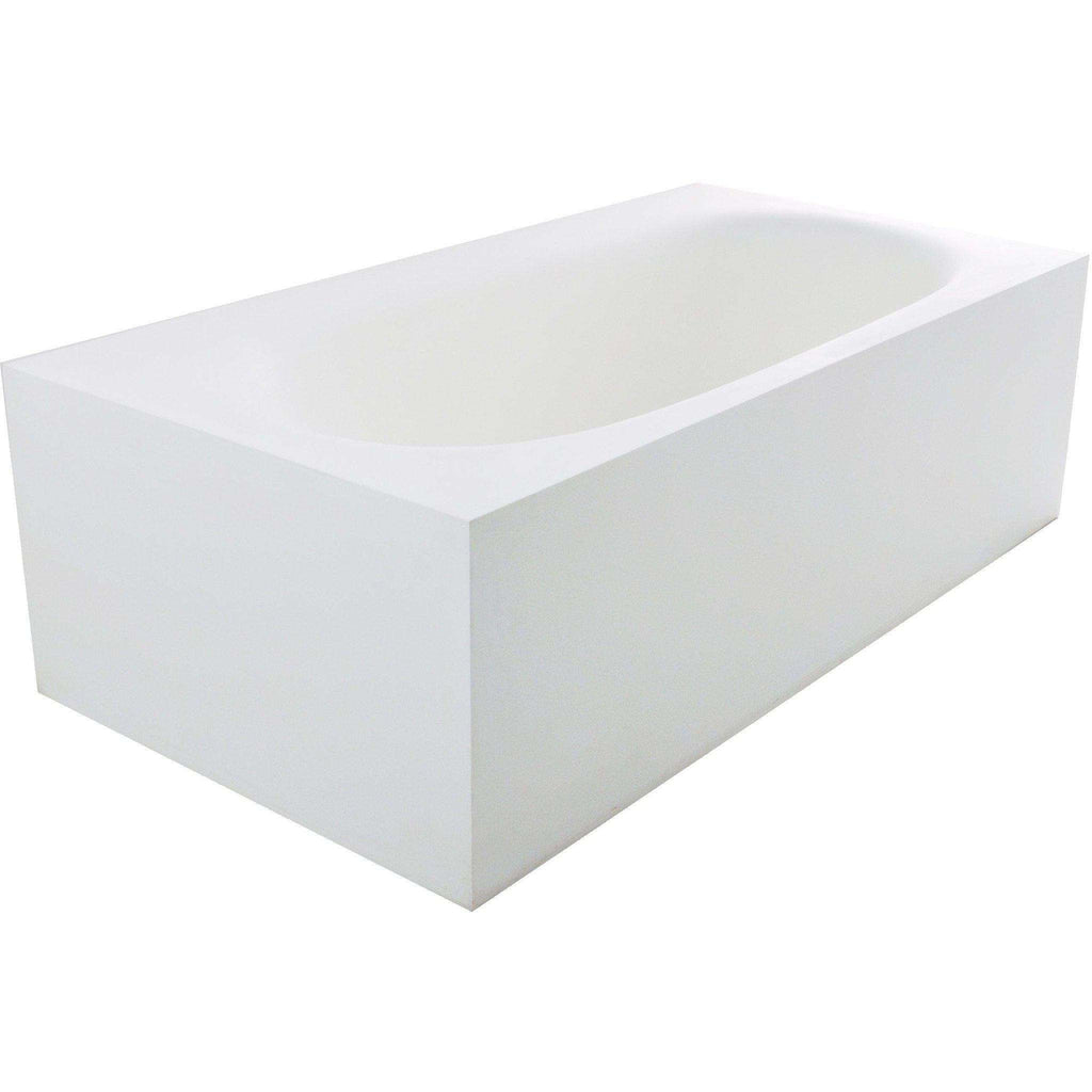 Ross True Solid Surface Soaking Tub - Matte White [new product]