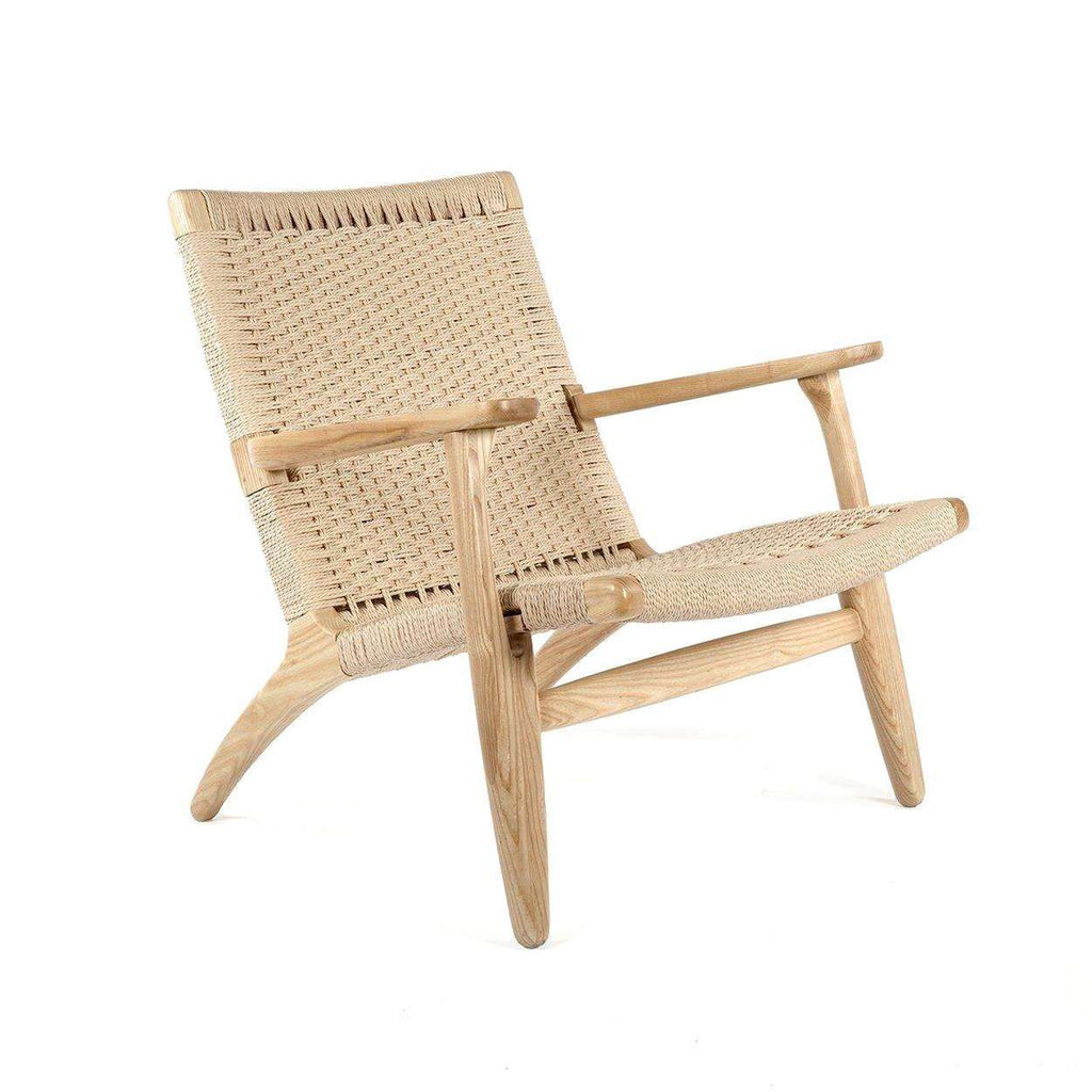 Beau Mid Century Modern Reproduction CH25 Lounge Chair Inspired By Hans Wegner