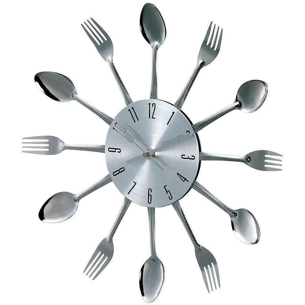 Mid-Century Modern Anker Metal Fork and Spoon clock
