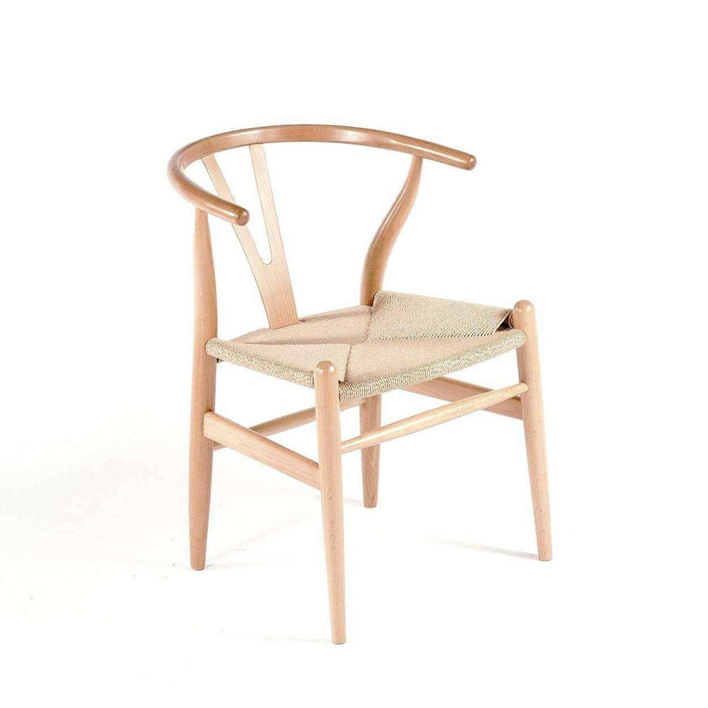 Mid-Century Modern Reproduction CH24 Wishbone Y Chair -Natural Inspired by Hans Wegner