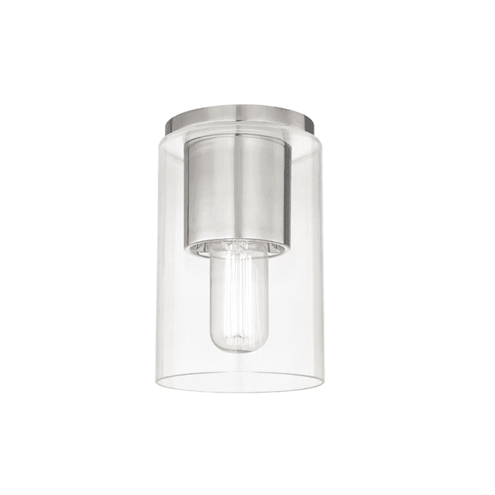 Lula 1 Light Flush Mount - Polished Nickel