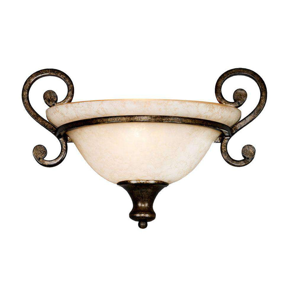 "Heartwood 14"" 1 Light Wall Sconce in Burnt Sienna with Tea Stone Glass"