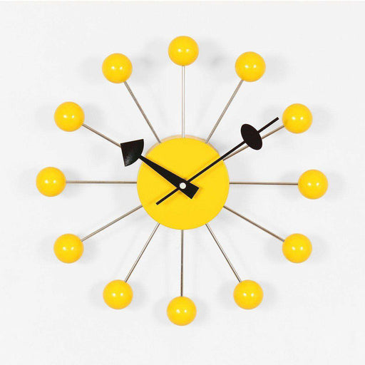Mid-Century Modern Reproduction Ball Clock - Yellow Inspired by George Nelson