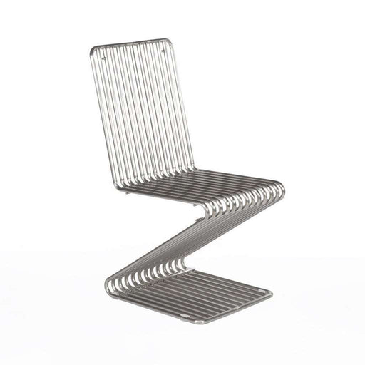 Modern Anke Side Chair - Brushed Stianless Steel