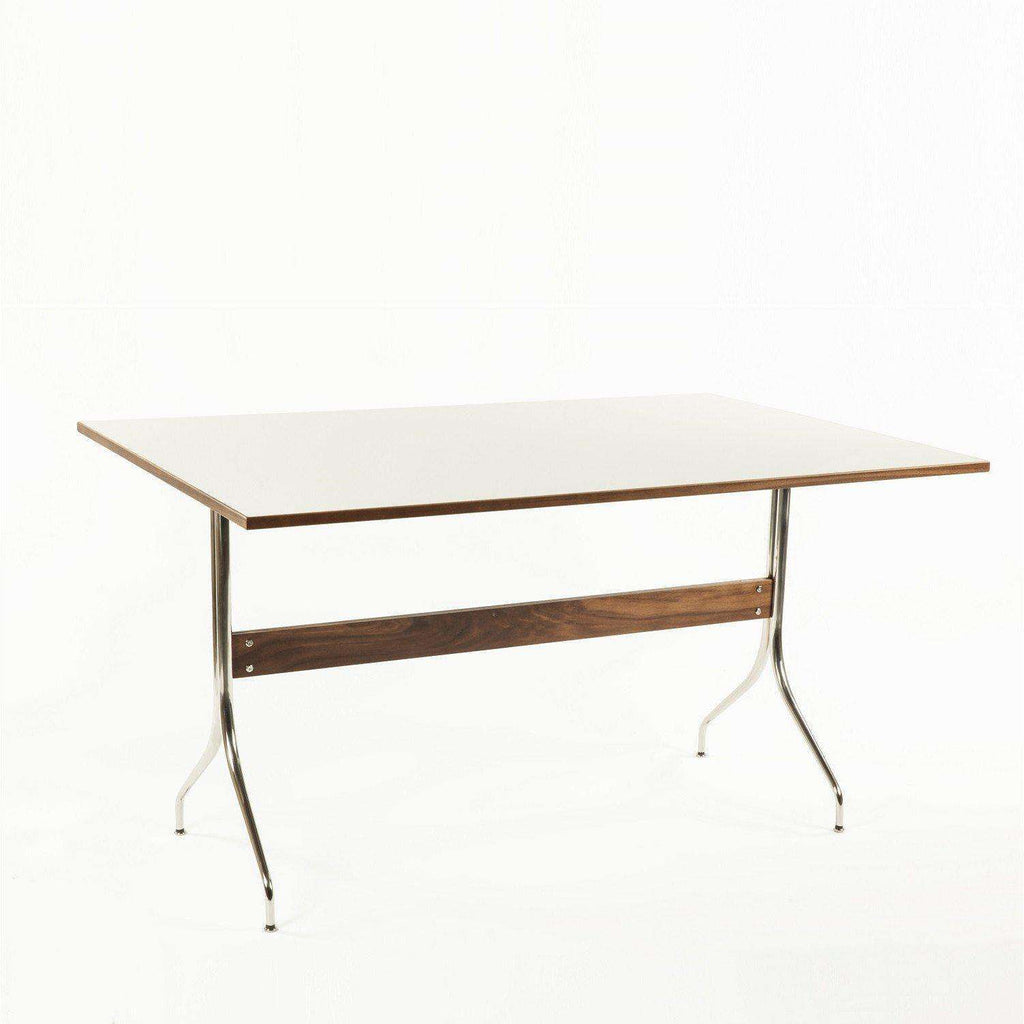 Mid Century Modern Reproduction Swag Leg Work Table   White Inspired By  George Nelson
