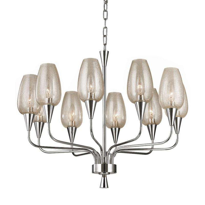 Longmont 10 Light Chandelier Polished Nickel