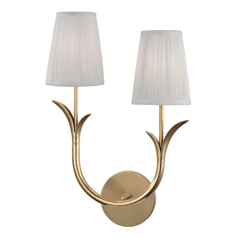 Deering 2 Light Right Wall Sconce Aged Brass