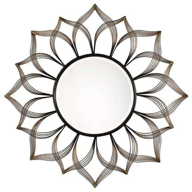 Imani Iron Sunflower Mirror