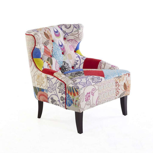 Contemporary Irre Patchwork Easy Chair