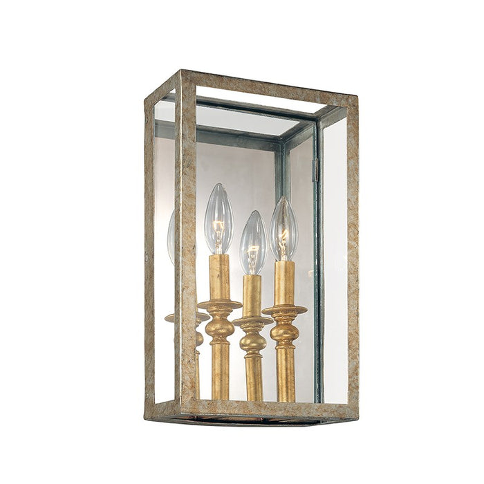 Morgan 2Lt Wall Sconce Gold Silver Leaf