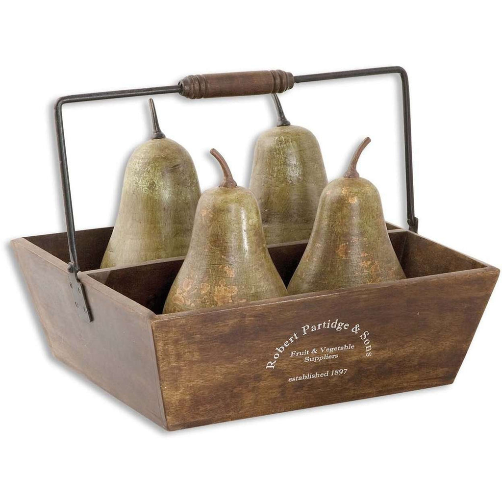 Uttermost Decorative Pears In Basket Set/5