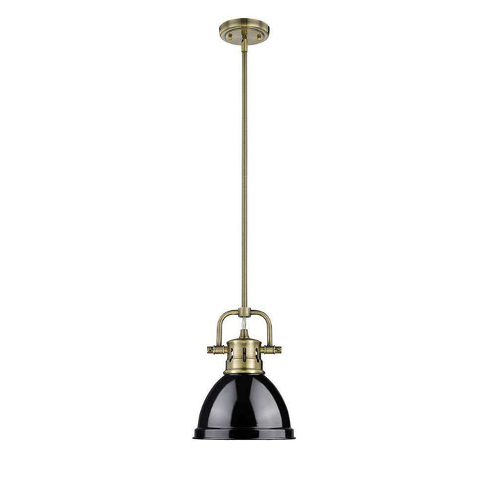 Duncan Mini Pendant with Rod in Aged Brass
