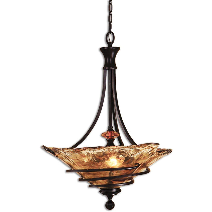 Uttermost Vitalia 3 Lt Oil Rubbed Bronze Pendant