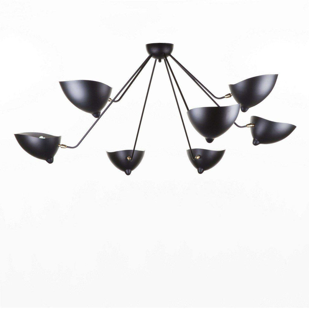 Mid-Century Modern Reproduction 7 Arm MCL-SP7 Spider Ceiling Lamp Inspired by Serge Mouille
