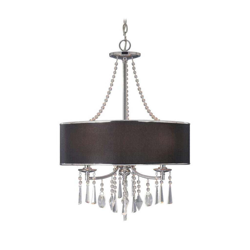 Echelon Pendant in Chrome with Tuxedo Shade