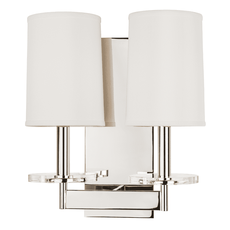 Chelsea 2 Light Wall Sconce Polished Nickel
