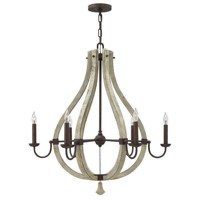 Middlefield Chandelier Iron Rust