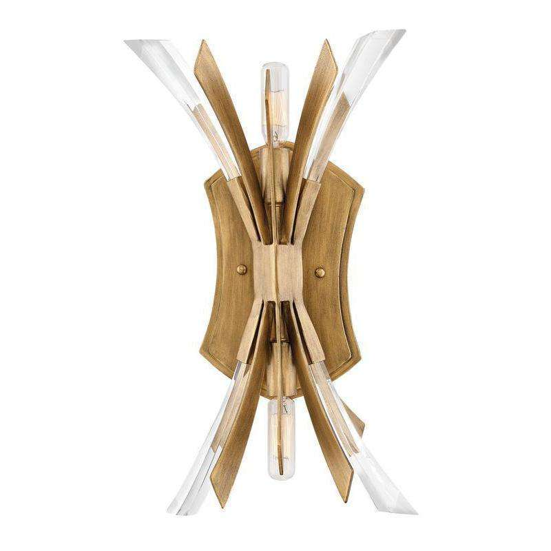 Vida Two Light Sconce Burnished Gold