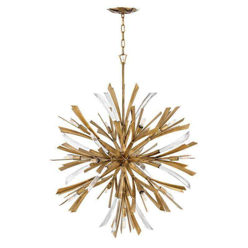 Vida Chandelier Burnished Gold