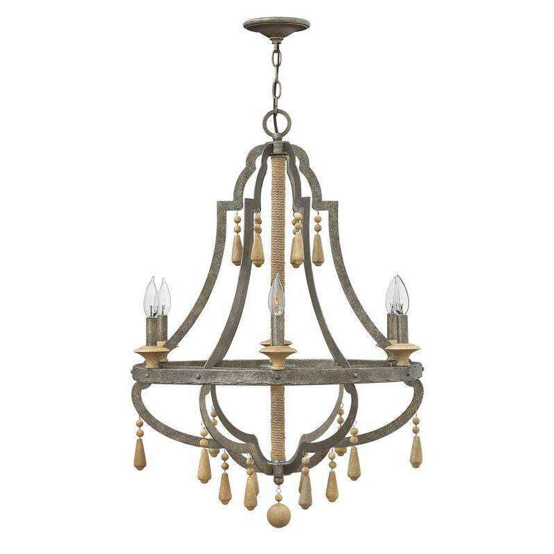 Cordoba Chandelier Distressed Iron