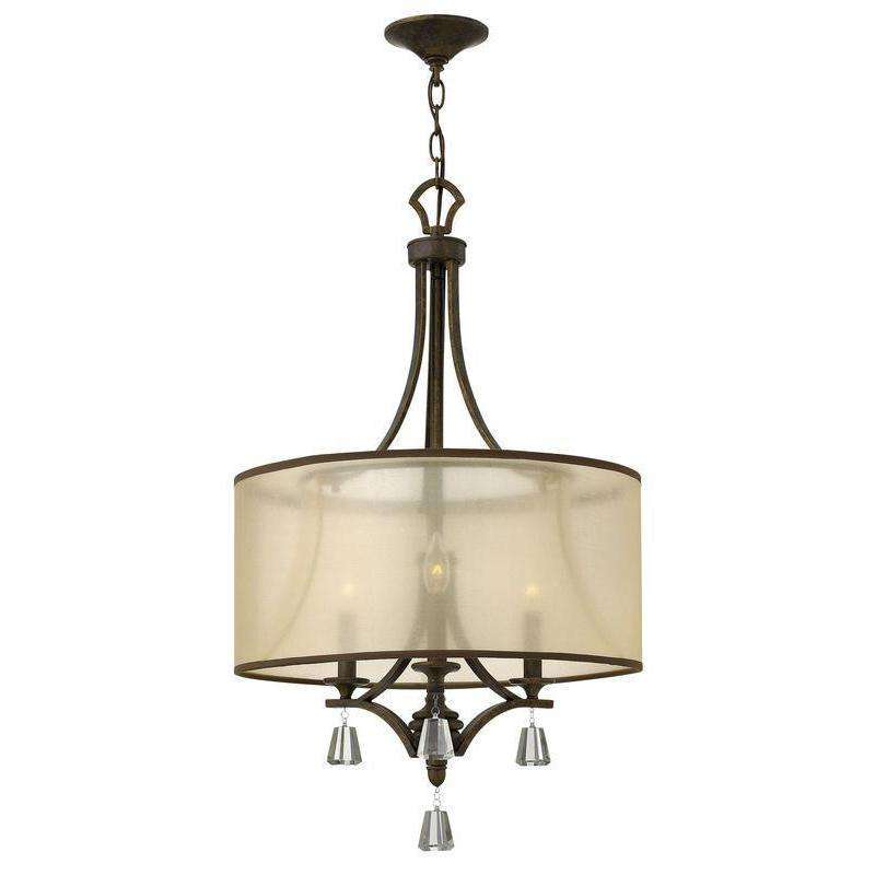 Mime Chandelier French Bronze