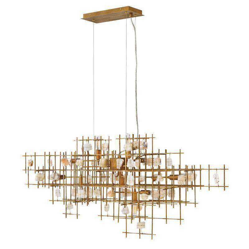 Petra Chandelier Luster Gold