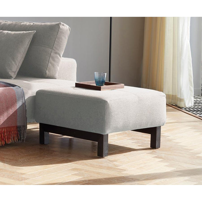 Deluxe excess ottoman BLACK WOOD